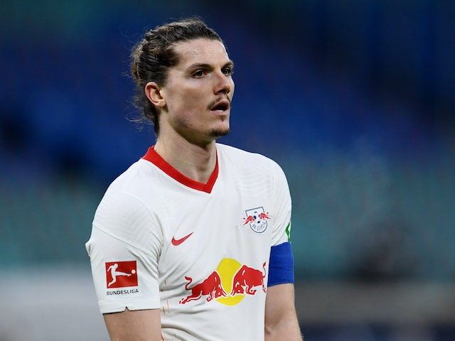 Marcel Sabitzer in action for RB Leipzig on December 12, 2020