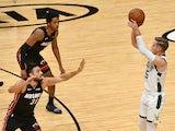 Milwaukee Bucks forward Sam Merrill in action against the Miami Heat on December 29, 2020