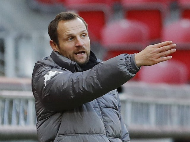 Mainz 05 coach Bo Svensson pictured on January 9, 2021
