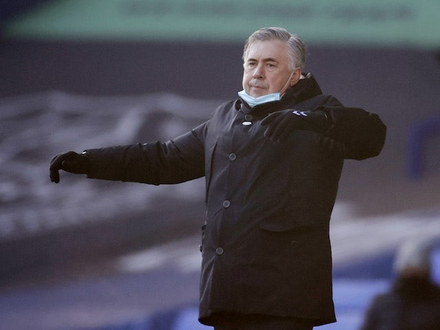 Everton manager Carlo Ancelotti pictured on January 9, 2021
