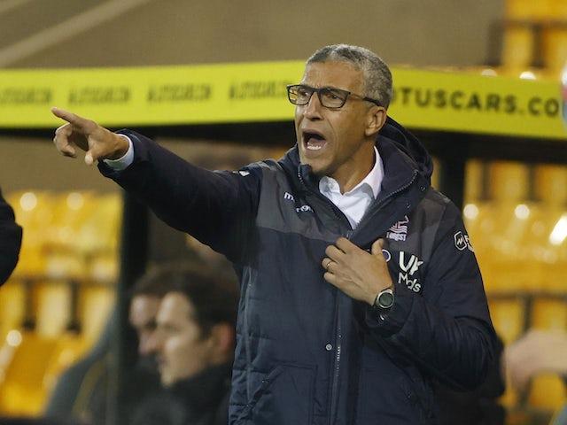 Nottingham Forest manager Chris Hughton pictured in December 2020
