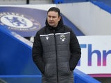 Morecambe manager Derek Adams pictured on January 10, 2021
