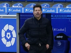 Atletico Madrid manager Diego Simeone pictured in January 2021