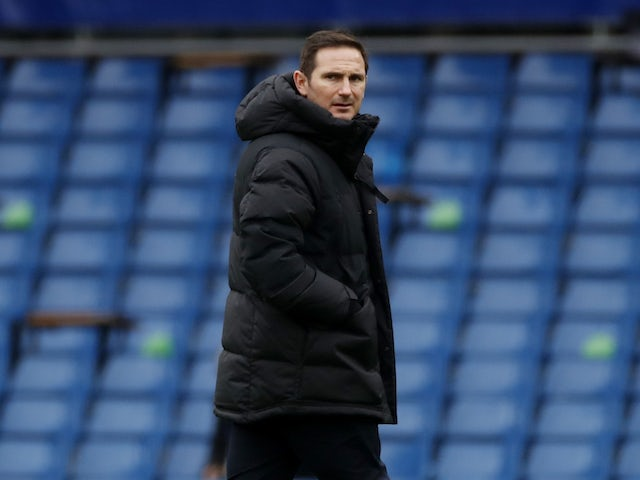 Chelsea manager Frank Lampard pictured on January 9, 2021