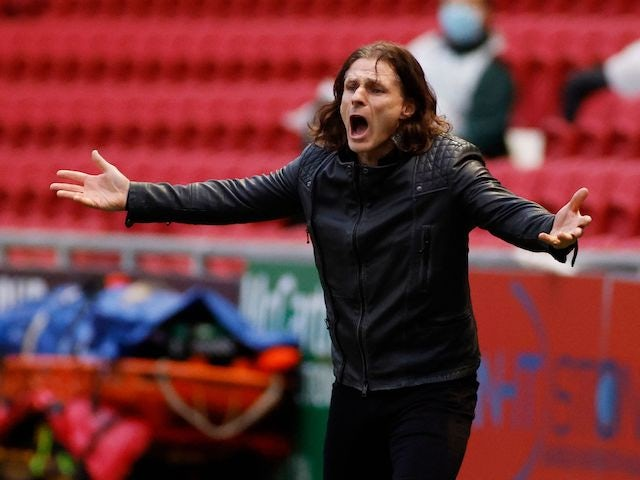 Wycombe Wanderers manager Gareth Ainsworth pictured in December 2020