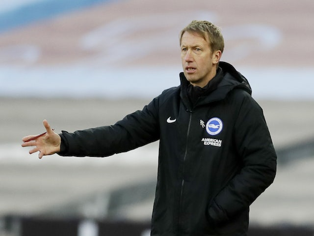 Brighton & Hove Albion manager Graham Potter pictured in December 2020