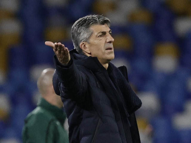 Real Sociedad head coach Imanol Alguacil pictured in December 2020