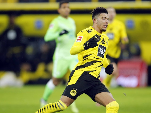 Borussia Dortmund winger Jadon Sancho pictured in January 2021
