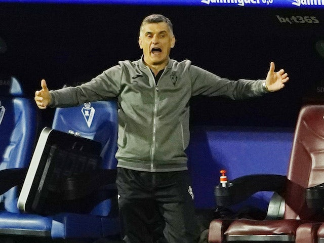 Eibar manager Jose Luis Mendilibar pictured in December 2020