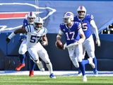 Buffalo Bills quarterback Josh Allen in action against the Indianapolis Colts on January 9, 2021