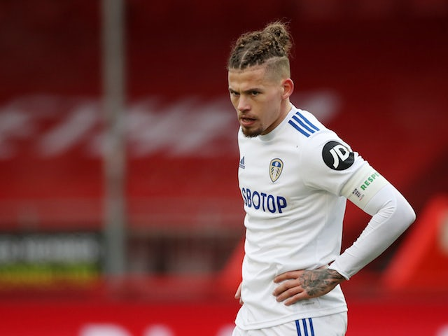 Leeds United midfielder Kalvin Phillips pictured on January 10, 2021