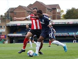 Kazaiah Sterling in action for Southend against Exeter City in October 2020