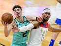 Charlotte Hornets guard LaMelo Ball in action against the New Orleans Pelicans on January 8, 2021