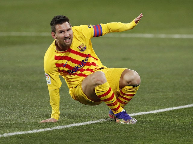 Lionel Messi in action for Barcelona on January 3, 2021
