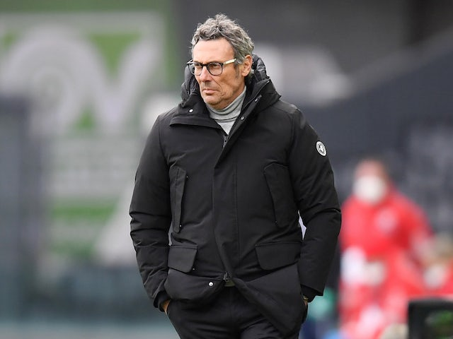 Udinese head coach Luca Gotti pictured on January 10, 2021