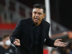 River Plate manager Marcelo Gallardo pictured on January 6, 2021
