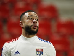 Lyon's Memphis Depay pictured on January 9, 2021