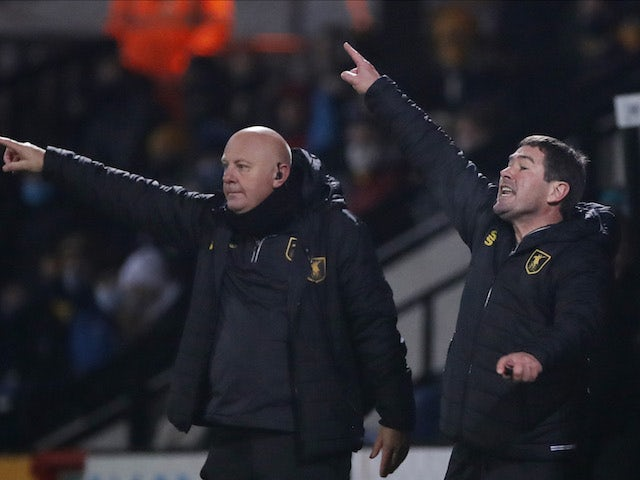 Mansfield Town manager Nigel Clough pictured on December 2, 2020