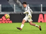 Paulo Dybala in action for Juventus on January 3, 2021