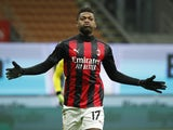 AC Milan's Rafael Leao celebrates scoring against Torino on January 9, 2021