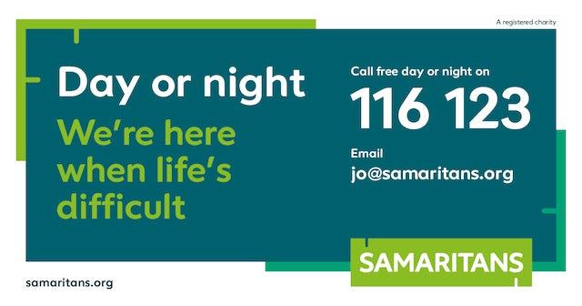 New Samaritans PSA banner