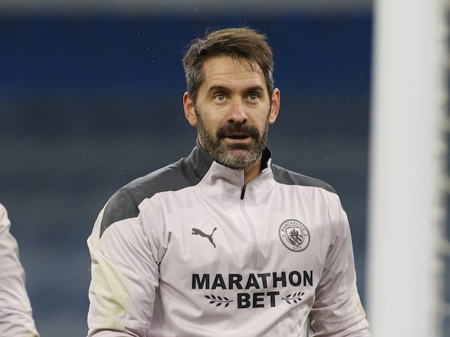 Scott Carson pictured for Manchester City in December 2020