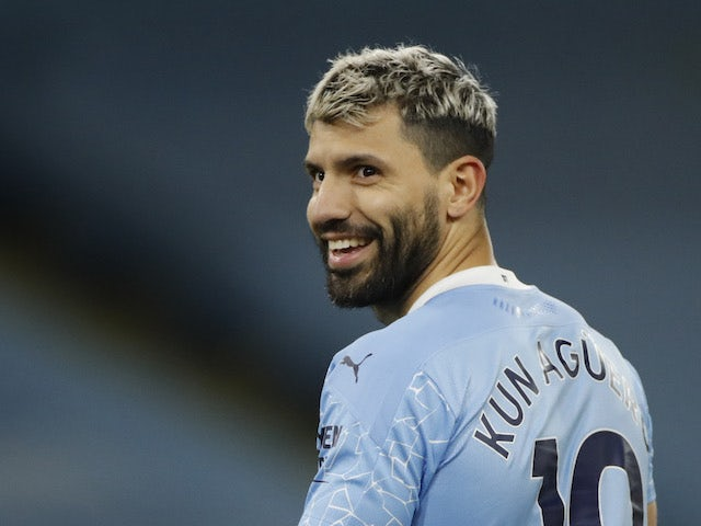 Sergio Aguero in action for Manchester City on December 15, 2020