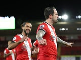 Danny Ings celebrates scoring for Southampton against Liverpool in the Premier League on January 4, 2021
