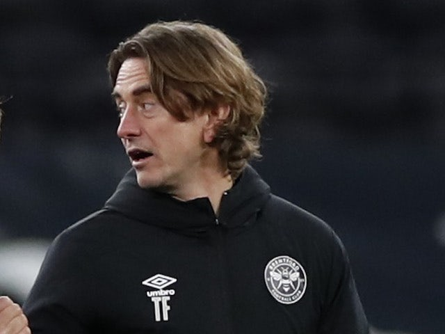 Brentford manager Thomas Frank pictured in January 2021
