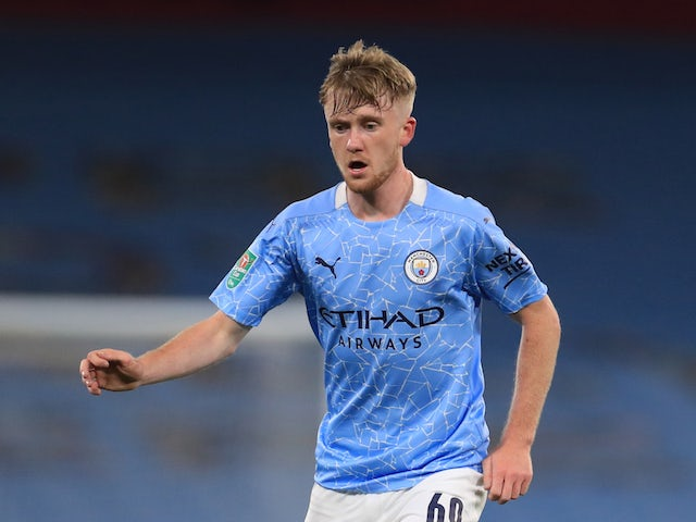 Manchester City midfielder Tommy Doyle pictured in September 2020