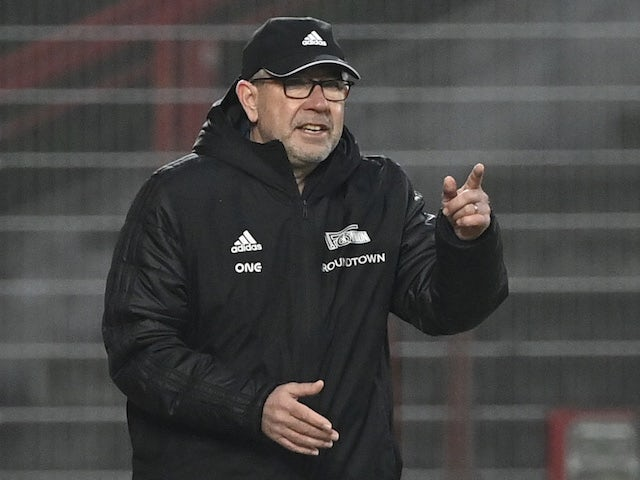 Union Berlin coach Urs Fischer reacts on January 9, 2021