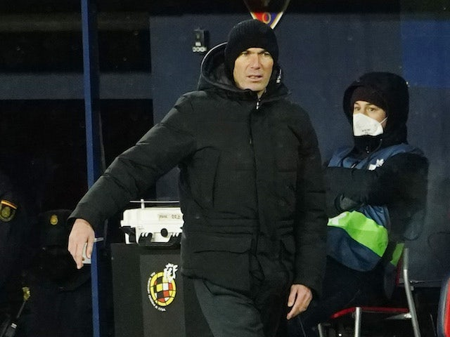 Real Madrid manager Zinedine Zidane pictured on January 9, 2021
