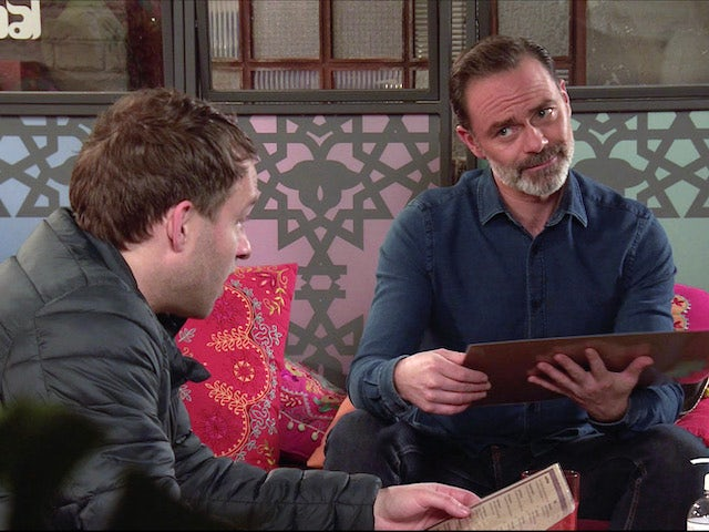 Billy and Paul on the first episode of Coronation Street on January 27, 2021