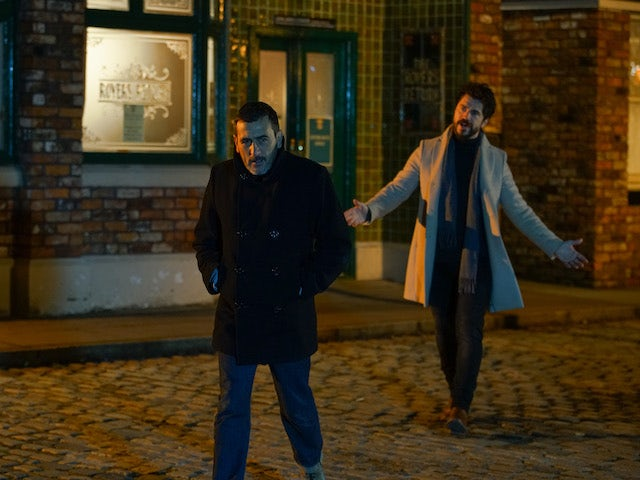 Adam and Peter on the second episode of Coronation Street on January 25, 2021