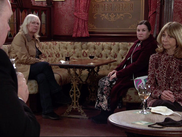 George, Eileen, Mary and Gail on the second episode of Coronation Street on January 27, 2021
