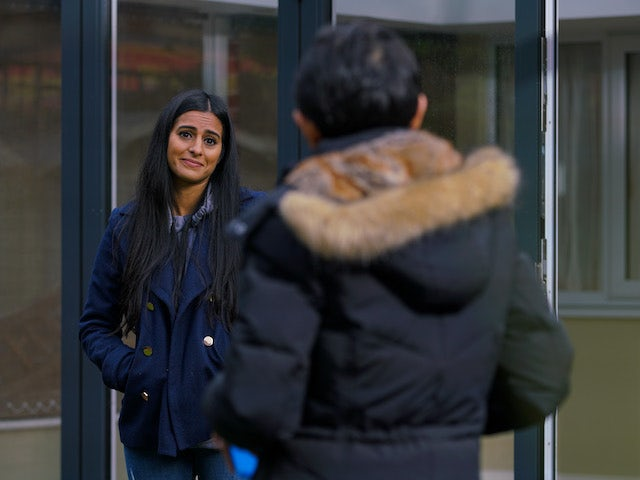 Alya on the second episode of Coronation Street on January 18, 2021