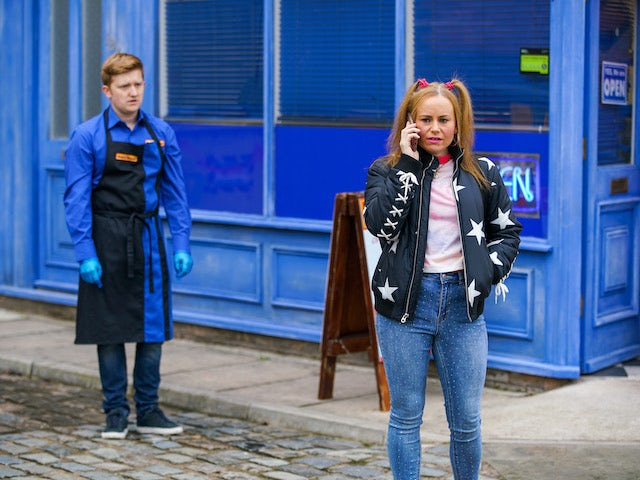 Gemma and Chesney on the second episode of Coronation Street on January 20, 2021