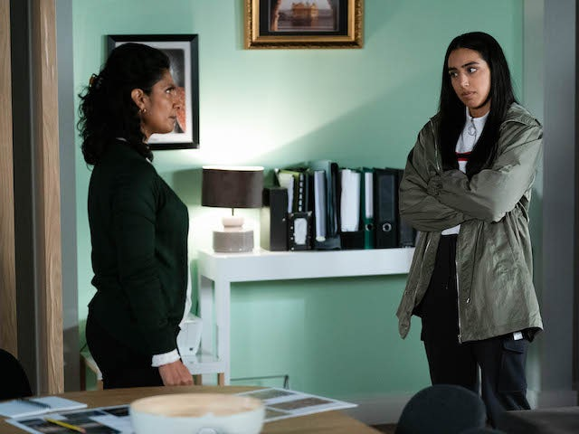 Suki and Ash on EastEnders on January 19, 2021