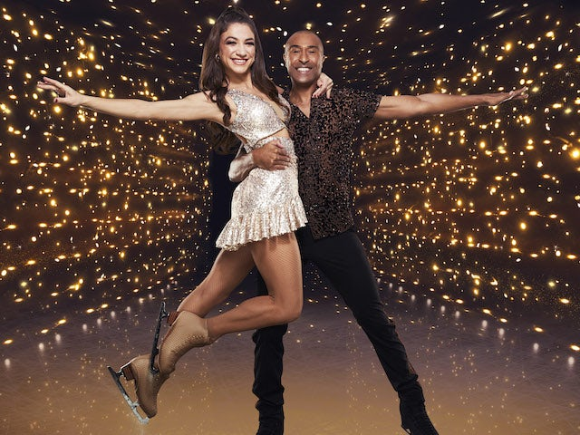 Colin Jackson and Klabera Komini for Dancing On Ice series 13