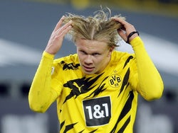 Erling Braut Haaland in action for Borussia Dortmund on January 3, 2021