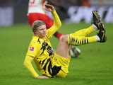 Erling Braut Haaland in action for Borussia Dortmund on January 9, 2021