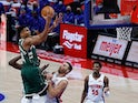 Milwaukee Bucks forward Giannis Antetokounmpo in action on January 13, 2021