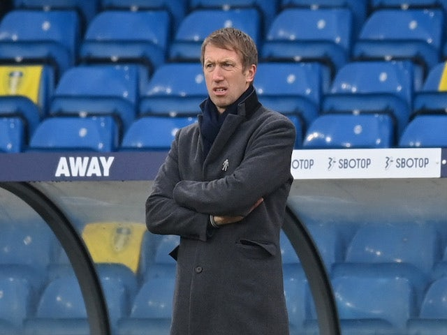 Brighton & Hove Albion manager Graham Potter pictured on January 16, 2021