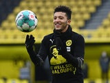 Borussia Dortmund winger Jadon Sancho pictured on January 16, 2021