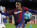 Junior Firpo in action for Barcelona on December 8, 2020