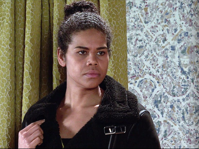 Grace on the first episode of Coronation Street on January 25, 2021