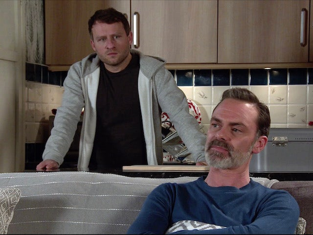 Billy and Paul on the first episode of Coronation Street on February 3, 2021