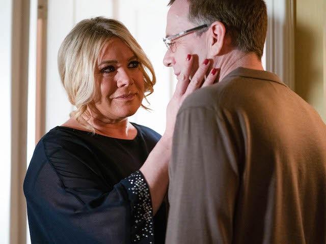 Sharon and Ian on EastEnders on January 21, 2021