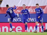 James Maddison celebrates scoring for Leicester City against Southampton in the Premier League on January 16, 2021