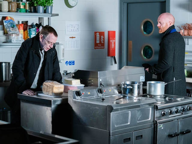 Ian and Max on EastEnders on January 18, 2021